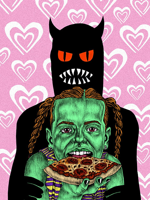 PIZZA LOVE Print