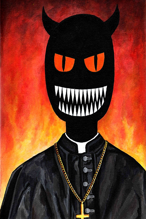 PRIEST FROM HELL Original Painting