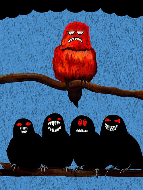 SINCE WHEN DID BIRDS HAVE TEETH? A2 Print