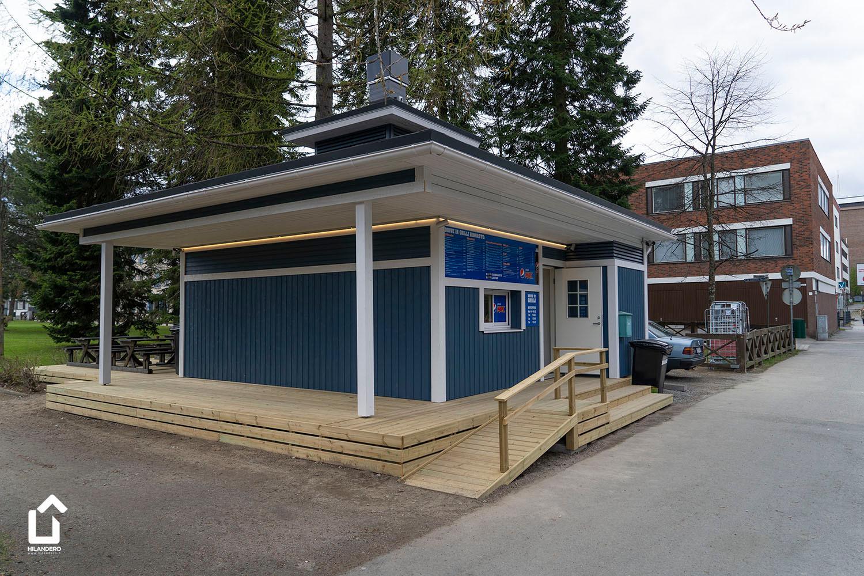 Hilandero Kuopio grillkiosk modular building