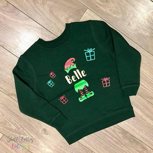 Personalised 'Elfie' Christmas Jumper