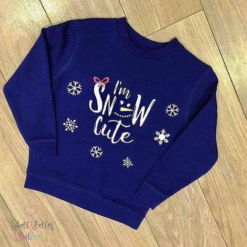 'Snow Cute' Christmas Jumper