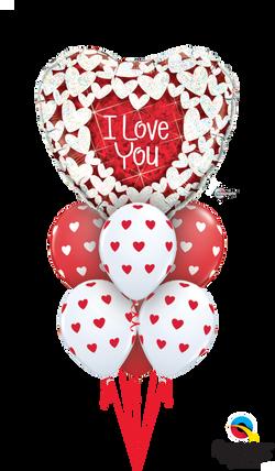 32229  76928  I Love You Glitter Hearts