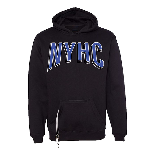 2020 – EXCLUSIVE TAILGATE STASH POCKET – BLACK HOODIE NYHC BLUE