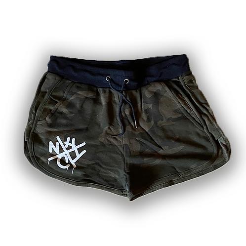 Womens CAMO NYHC Drip Shorts
