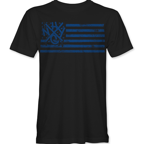 FLAG - Blue - T-Shirt