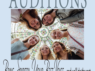 Auditions for 2016-2017 Season