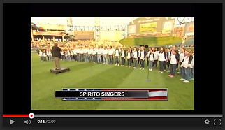 Spirito! Singers National Anthem White Sox 2015