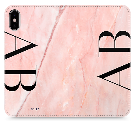 Pink GEM Stone Custom iphone Case - fake Leather Note type-のコピー