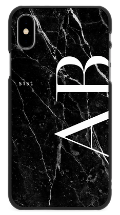 Black GEM Stone custom iphone case -hard cover Straight-