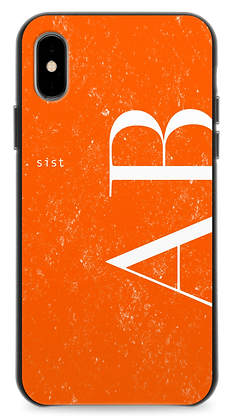 J-orange GEM Stone Custom iphone Case -Leater Straight-