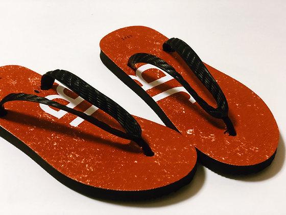 J ORANGE GEM Stone custom beach sandals