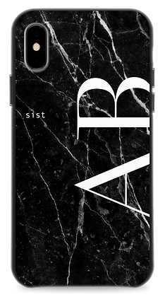 Black GEM Stone Custom iphone Case -Leater Straight-