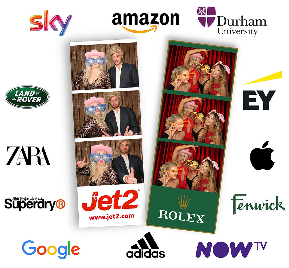photo booth hire branded prints