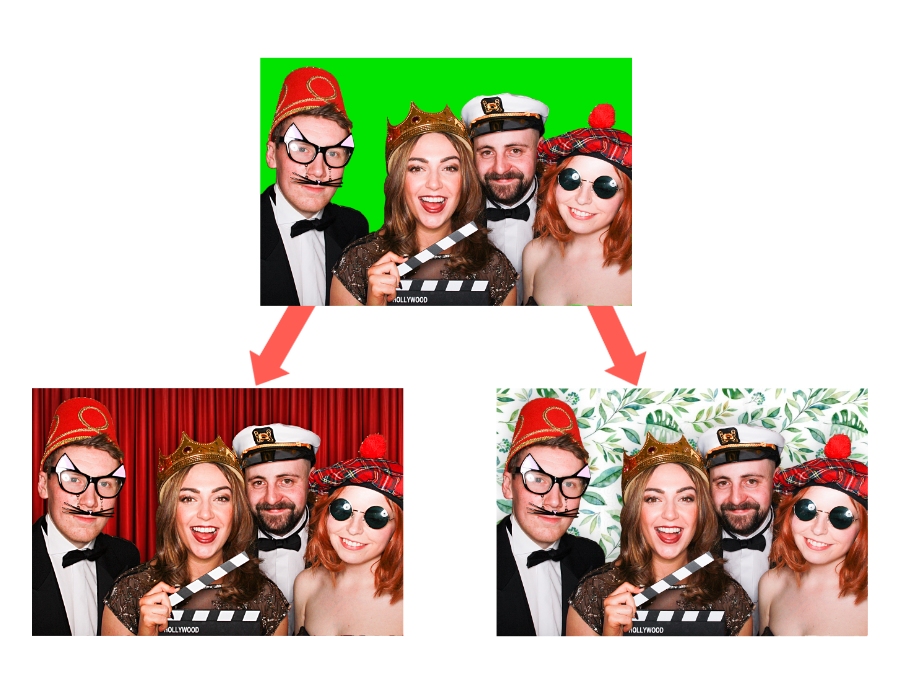 photo booth hire green screen