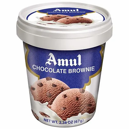 Amul Real Milk Ice cream - Chocolate Brownie, 125ml Cup