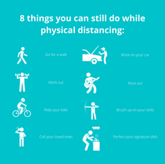 8 things you can still do while physical distancing