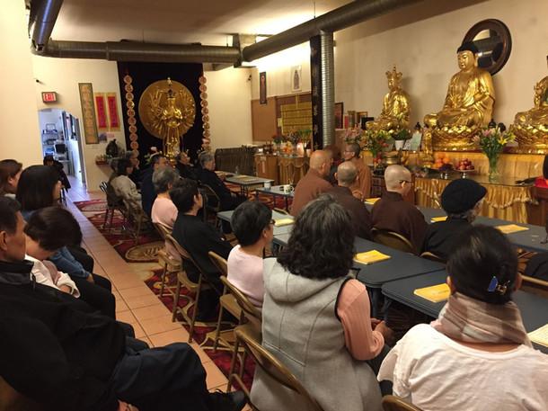 继如师父在日常共修后为大众开示 Master JiRu Gave a Dhamm