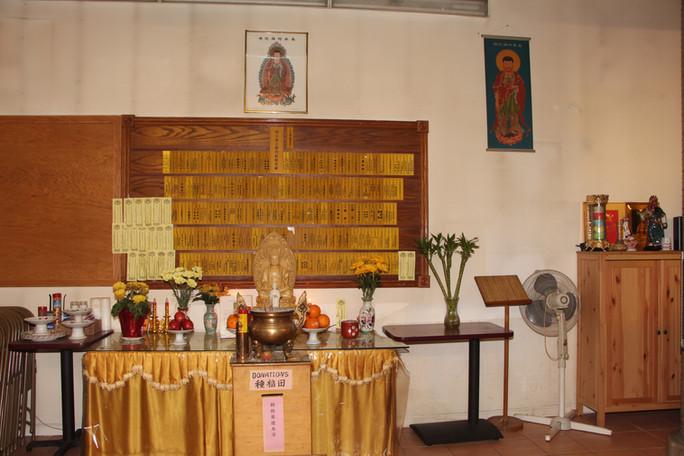 旧庙的阿弥陀佛像Amitabha Buddha at the Old Templ