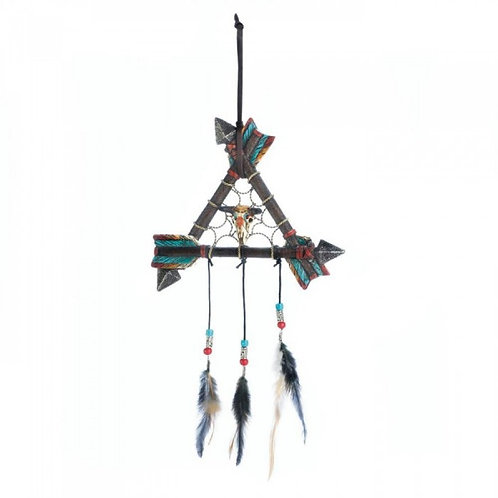 Arrows & Feathers w/ Skull Dreamcatcher