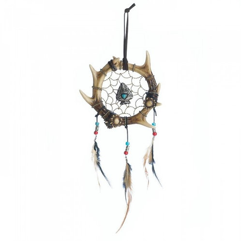 Feathers and Jewels Antler Dreamcatcher Decoration