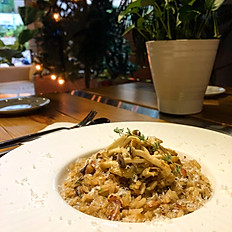 牛肝蕈松露野菇燉飯 Porcini w/ Truffle Risotto and Wild Mushroom