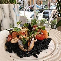 海鮮墨魚燉飯 Squid Ink Seafood Risotto