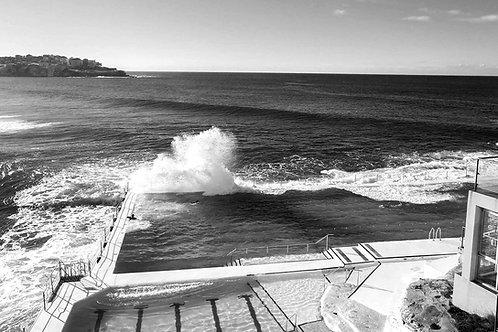 Iceberg Pool Print, Bondi Beach Black and White