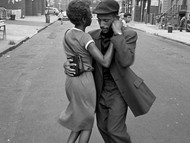 Dancers in Mott Haven, The Bronx, August 1956. Photo by David Gonzalez