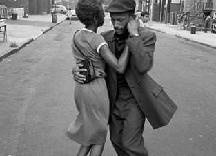 Dancers in Mott Haven, The Bronx, August 1956. Photo by David Gonzalez
