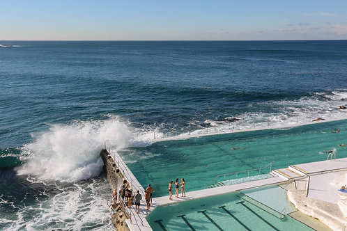 Swimmers in Iceberg Pool Bondi Beach