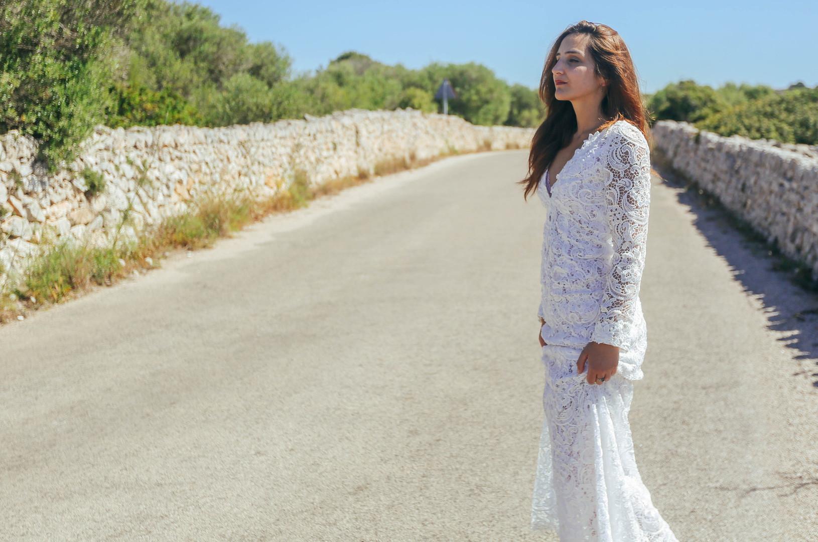 Bride Portrait, outdoors
