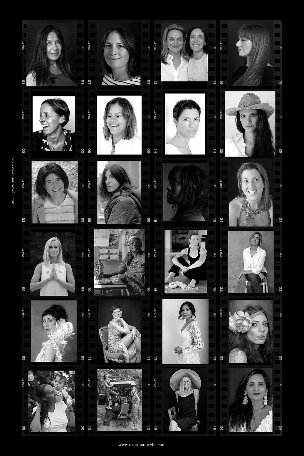CONTACT SHEET MUJERES- 35mm Film Negati