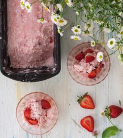 coconut and Strawberry icecream