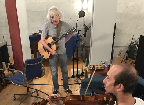 Recording NEW Scotland with Tom, Jamie, and Dave.
