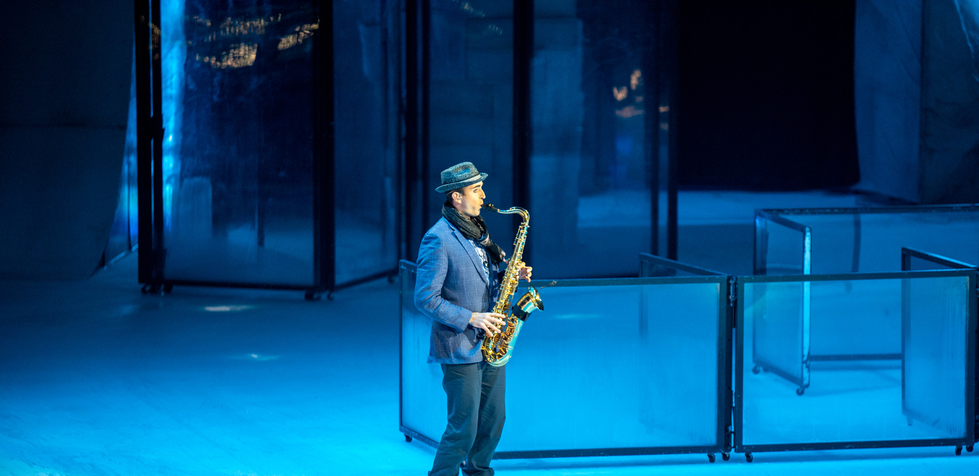 Clarinet, Saxophone, Guitar in CRYSTAL by Cirque du Soleil.