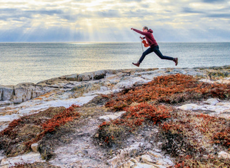 Chilly photos in Duncan's Cove with Adele Beaton.