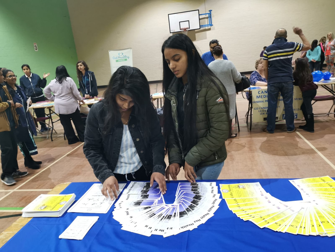 Indived Volunteers at a Health Event