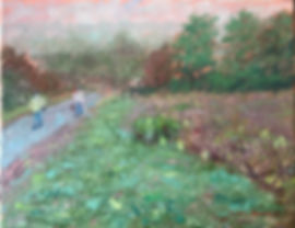Valley Forge Summer Impressionist Art oil on canvas by Robert Palumbo