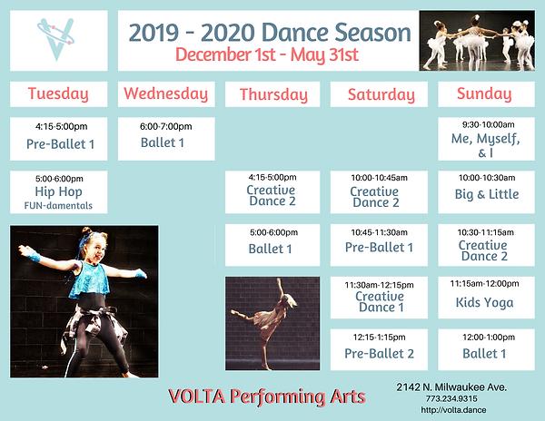 VOLTA Schedule December 2019 - May 2020