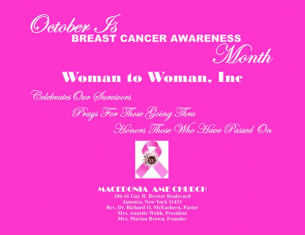 Woman to Woman breast cancer 2020  LANDS
