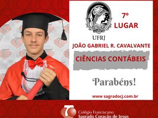 CIÊNCIAS CONTÁBEIS - UFRJ - 7º LUGAR JOÃO GABRIEL R. CAVALCANTE