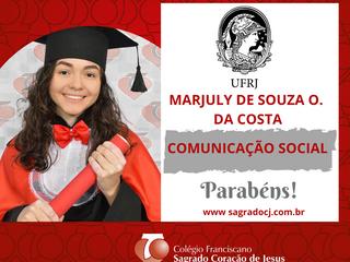 COMUNICAÇÃO SOCIAL - UFRJ MARJULY DE SOUZA O. DA COSTA