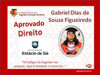 """APROVADO DIREITO - ESTÁCIO DE SÁ                          """"GABRIEL DIAS DE S. FIGUEIREDO"""""""