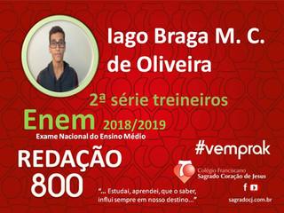 "TREINEIROS ENEM 2018-2019                         ""IAGO BRAGA M. C. DE OLIVEIRA"""