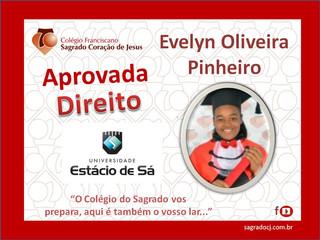 """APROVADO DIREITO - ESTÁCIO DE SÁ                          """"EVELYN OLIVEIRA PINHEIRO"""""""
