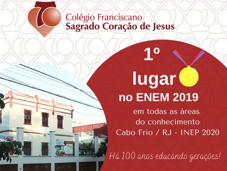 1° LUGAR NO ENEM 2019 - INEP 2020