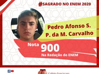 PEDRO AFONSO S. P. DA MOTTA CARVALHO Nota 900 na Redação do ENEM/2020