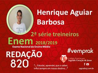 "TREINEIROS ENEM 2018-2019                         ""HENRIQUE AGUIAR BARBOSA"""
