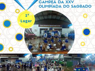 CAMPEÃ DA XXV OLIMPÍADA - BANDEIRA AZUL